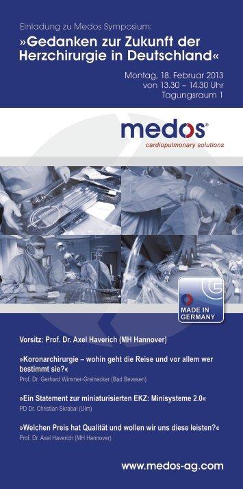 Gedanken zur Zukunft der Herzchirurgie in Deutschland« - Medos ...