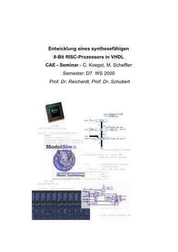 Entwicklung eines 8 Bit RISC Prozessors mit VHDL