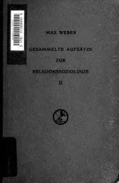 Gesammelte Aufsätze zur Religionssoziologie