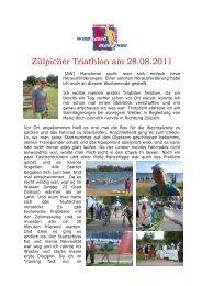 Zülpicher Triathlon am 28.08.2011 - SV Windhagen
