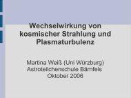 Wechselwirkung von kosmischer Strahlung und Plasmaturbulenz