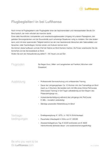 Lufthansa motivationsschreiben