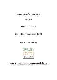 Das Weinjahr und der Jahrgang 2000 - Österreich Wein