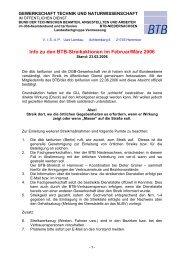 Hinweise zu Streikmaßnahmen der Lfgr. Vermessung Stand 23.02 ...