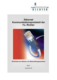 Ethernet-Anbindung - Joachim Richter Systeme & Maschinen GmbH ...