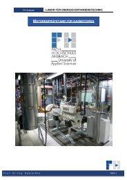 Motorenprüfstand für Gasmotoren