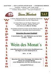 Gasthauskarte - Gasthof Heiß
