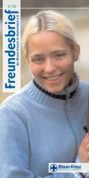 Freundesbrief 4-2005 - Blaues Kreuz Deutschland