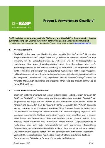 Fragen & Antworten zu Clearfield - BASF