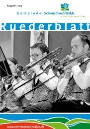 Ruederblatt – 1. Ausgabe 2013 im März - Gemeinde Schmiedrued ...