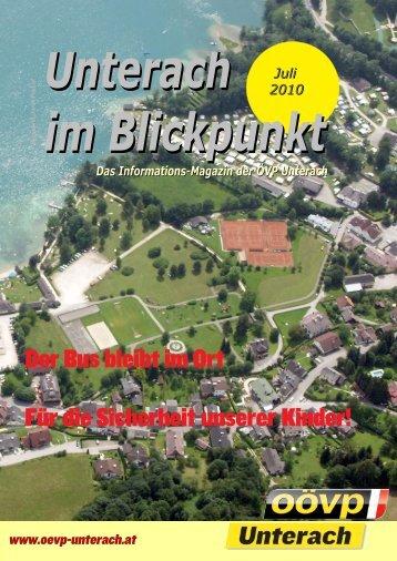 Ausgabe Juli 2010 - (ÖVP) Unterach am Attersee