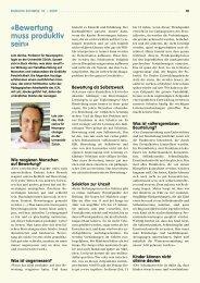 Lutz Jäncke: «Bewertung muss produktiv sein - beim LCH