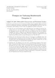 Übungen zur Vorlesung Bioinformatik - Fakultät Statistik - TU ...