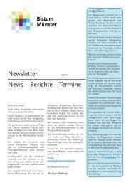 Newsletter News – Berichte – Termine - Leitung