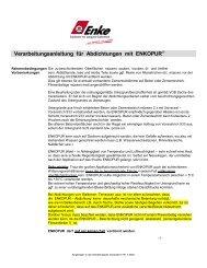 Verarbeitungsanleitung für Abdichtungen mit ENKOPUR® - DDH