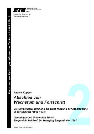 Abschied von Wachstum und Fortschritt - Technikgeschichte der ...