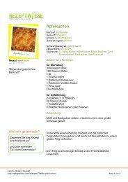 Apfelkuchen - Rezeptwiese