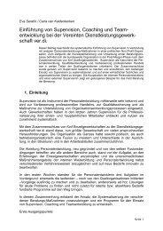 Einführung von Supervision in - Step Berlin