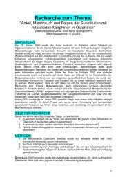 Substitution mit retardierten Morphinen in Österreich