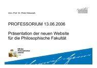 pdf der Powerpoint-Präsentation im Professorium ... - Peter Matusseks