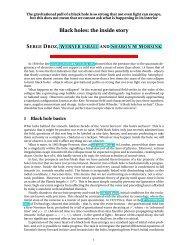 Black holes: the inside story - University of Alberta
