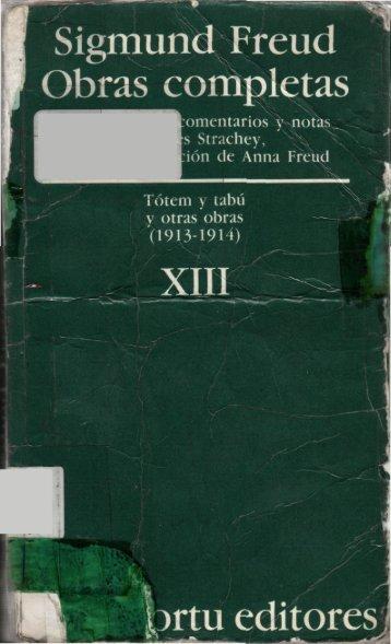 Volumen XIII – Tótem y tabú, y otras obras (1913-1914). - Centro de ...