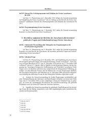 3. Beschlüsse aufgrund der Berichte des Ausschusses für ...