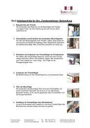 Die 8 Arbeitsschritte der Fensterwellness-Behandlung