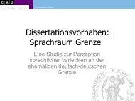 Sprachraum Grenze - Germanistisches Seminar