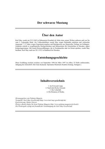 Der schwarze Mustang Über den Autor ... - thule-italia.net