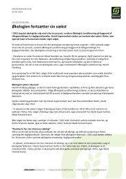 04.02.13 - Økologien fortsætter sin vækst - Økologisk Landsforening