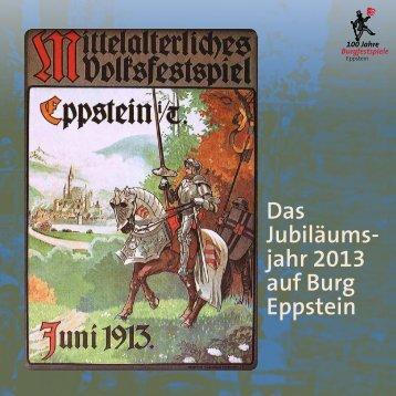 Das Jubiläums- jahr 2013 auf Burg Eppstein - Eppsteiner Zeitung