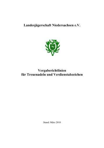 Verbandsabzeichen, ehrungen - Wildtiermanagement Niedersachsen