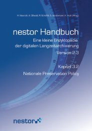 3.2 Nationale Preservation Policy - nestor