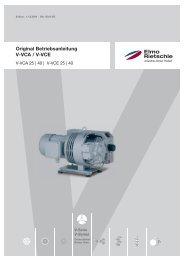Original Betriebsanleitung V-VCA / V-VCE - Elmo Rietschle