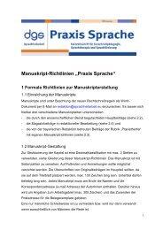 """Manuskript-Richtlinien """"Praxis Sprache"""" - Deutsche Gesellschaft für ..."""