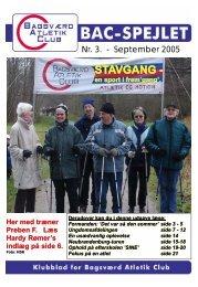 Hent BAC-Spejlet, nr. 3, 2005 - Bagsværd Atletik Club