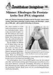 Prostatakrebs frühzeitig erkennen - Bergdietikon