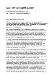 Die Familie braucht Zukunft - Deutsche Evangelische Allianz