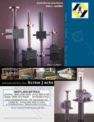 Screw jacks - Maryland Metrics