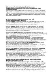 Informationen für kieferorthopädische Behandlungen - Krefeld