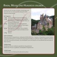 Unsere Erlebnispauschale Rhein, Mosel und ... - Schmausemühle