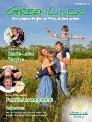GreenLiner Magazin Sommer 2013