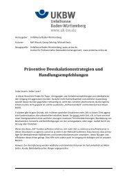 Präventive Deeskalationsstrategien und Handlungsempfehlungen