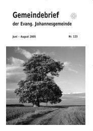 Gemeindebrief Juni 2005