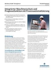 Integrierter Maschinenschutz und Prognosefunktion mit ...