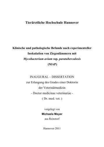 MAP - TiHo Bibliothek elib - Tierärztliche Hochschule Hannover