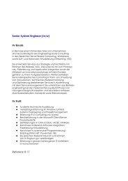 Senior System Engineer (m/w) - Verax Consulting GmbH