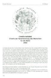 CHARTA NATURAE Charta der Verantwortung des Menschen für ...