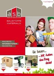 angebote InformAtIonen neuheiten - ASB Büllingen